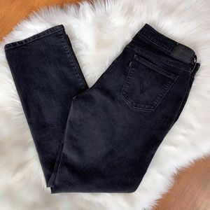 Levi's Black 505 Jeans Black Label High Rise  14